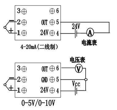 说明:对于热电偶输入的温度变送器,信号输出为4~20ma &nbsp